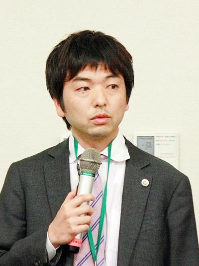 動物愛護法に関する緊急院内集会で発言する細川敦史弁護士