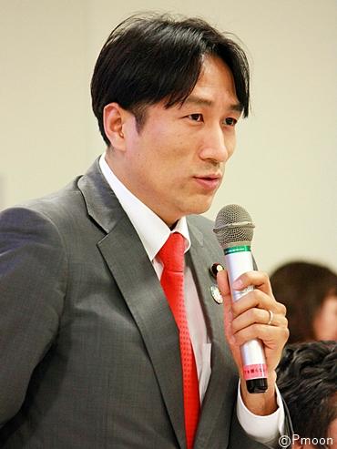 動物愛護法に関する緊急院内集会で発言する川田龍平参議院議員