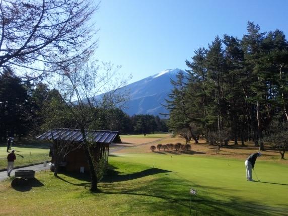 富士山の見えるゴルフ場