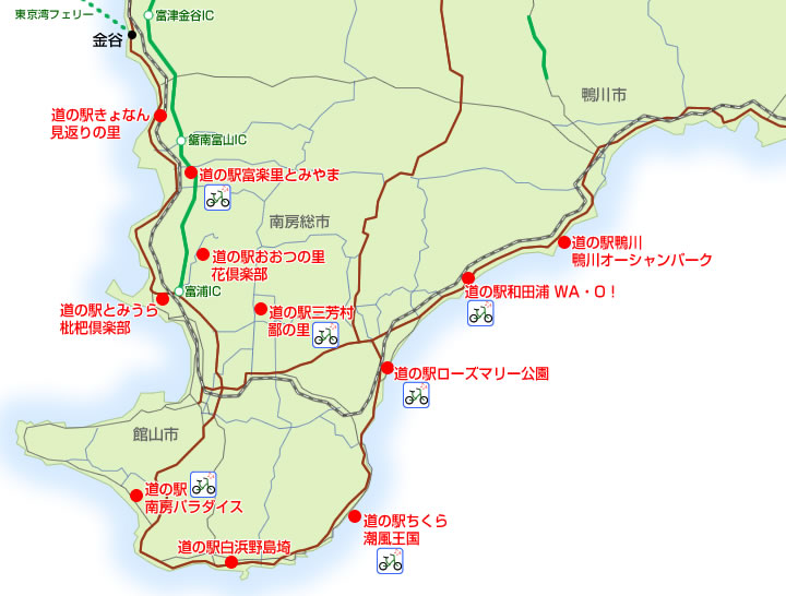 千葉県南房総の道の駅MAP
