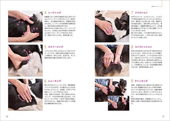 「ドッグマッサージ 実践テクニックBOOK」p36-37