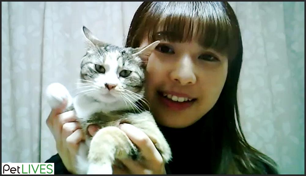 獣医師林美彩先生と愛猫